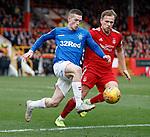 03.03.2019 Aberdeen v Rangers: Ryan Kent and Greg Stewart
