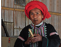 Portrait of a tribal from the Hill Tribes of the Godlen Triangle of Northern Thailand, Myanmar and Vietnam.