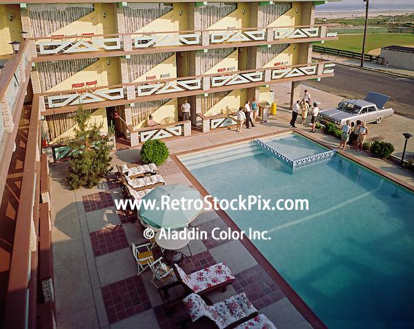 Satellite Motel, Wildwood, NJ - 1960 - Pool