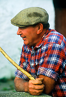 Portrait of an Irish farmer, County Clare, Ireland