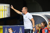 Manchester City Women manager Nick Cushing during Chelsea Women vs Manchester City Women, FA Women's Super League FA WSL1 Football at Kingsmeadow on 9th September 2018