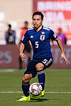 Nagatomo Yuto of Japan in action during the AFC Asian Cup UAE 2019 Group F match between Japan (JPN) and Turkmenistan (TKM) at Al Nahyan Stadium on 09 January 2019 in Abu Dhabi, United Arab Emirates. Photo by Marcio Rodrigo Machado / Power Sport Images