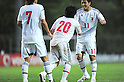 (R-L) Kota Mizunuma, Yoshiaki Takagi (JPN),.MAY 25, 2012 - Football / Soccer :.Yoshiaki Takagi of Japan talks with his teammate Kota Mizunuma as he leaves the pitch 2012 Toulon Tournament Group A match between U-23 Japan 3-2 U-21 Netherlands at Stade de l'Esterel in Saint-Raphael, France. (Photo by FAR EAST PRESS/AFLO)