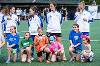 Boston, MA - Saturday July 01, 2017: Boston Breakers with special guests in pre-games ceremonies during a regular season National Women's Soccer League (NWSL) match between the Boston Breakers and the Washington Spirit at Jordan Field.