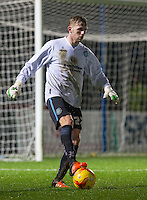 Jason McCarthy of Wycombe Wanderers stands in for goalkeeper during the Sky Bet League 2 match between Wycombe Wanderers and Morecambe at Adams Park, High Wycombe, England on 2 January 2016. Photo by Andy Rowland / PRiME Media Images