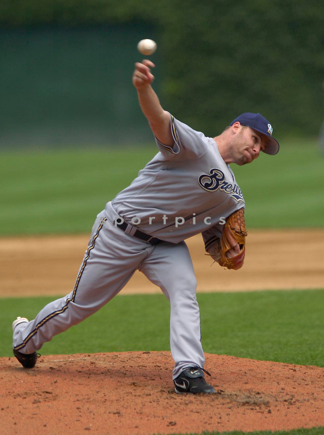 Ben Sheets during the Milwaukee Brewers v. Chicago Cubs game on June 29, 2005..Cubs win 3-2...David Durochik / SportPics