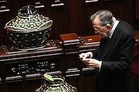 Giulio Andreotti<br /> Roma, 09/05/06 Camera dei Deputati. All'ordine del giorno la terza votazione per l'elezione del Presidente della Repubblica. <br /> Photo Samantha Zucchi Insidefoto