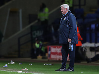 Sheffield Wednesday's manager Steve Bruce looks on<br /> <br /> Photographer Andrew Kearns/CameraSport<br /> <br /> The EFL Sky Bet Championship - Bolton Wanderers v Sheffield Wednesday - Tuesday 12th March 2019 - University of Bolton Stadium - Bolton<br /> <br /> World Copyright © 2019 CameraSport. All rights reserved. 43 Linden Ave. Countesthorpe. Leicester. England. LE8 5PG - Tel: +44 (0) 116 277 4147 - admin@camerasport.com - www.camerasport.com