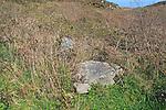 Boulder stone marked prehistoric burial site, Cape Clear Island, County Cork, Ireland, Irish Republic