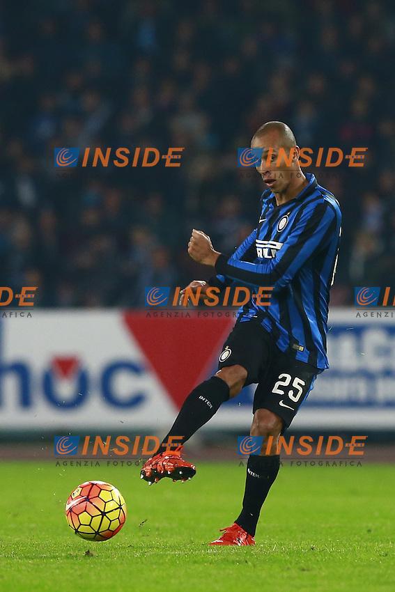 Joao Miranda de Souza Filho Inter,  <br /> Napoli 30-11-2015 Stadio San Paolo <br /> Football Calcio Serie A 2015/2016 Napoli - Inter<br /> Foto Cesare Purini / Insidefoto