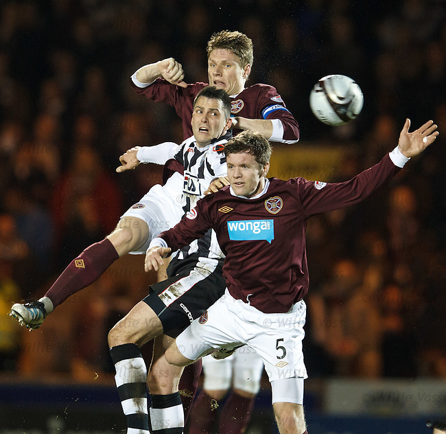 St Mirren's Graham Carey squeezed out by Hearts duo Marius Zaliukas and Darren Barr