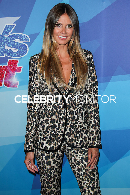 HOLLYWOOD, LOS ANGELES, CA, USA - AUGUST 15: Heidi Klum arrives at NBC's 'America's Got Talent' Season 12 Live Show held at Dolby Theatre on August 15, 2017 in Hollywood, Los Angeles, California, United States. (Photo by Xavier Collin/Celebrity Monitor)