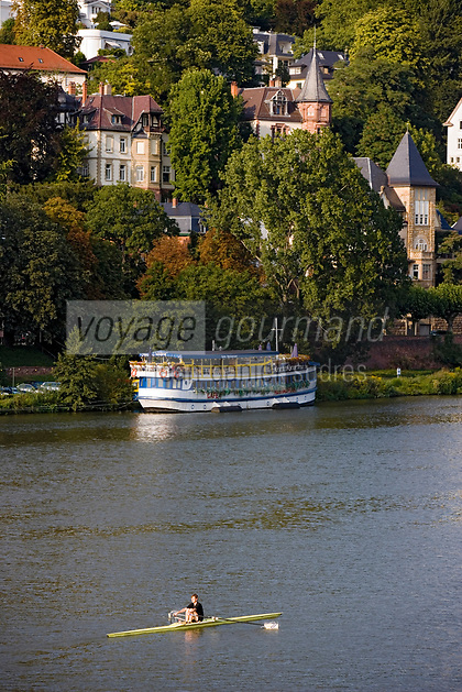Europe/Allemagne/Bade-Würrtemberg/Heidelberg: la rive droit edu Neckar