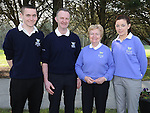 Captain Martin Commins, Lady captain Nuala Thorne, Junior Captain Dylan Crawley and Junior Lady Captain Ciara Molloy pictured at the captain's drive in at ardee golf club. Photo: Colin Bell/pressphotos.ie