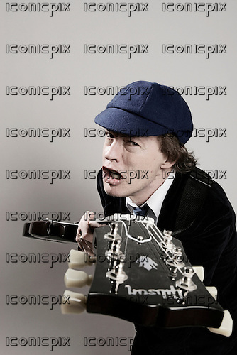 AC/DC - Exclusive Portraits of Angus Young photographed in Dusseldorf Germany - 17 Sep 2008.  Photo credit: Ashley Maile/IconicPix  *PREMIUM COLLECTION* *HIGHER RATES APPLY* *NO WEBSITES*