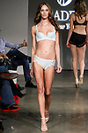 Model walks runway in lingerie from the Bradelis New York Spring Summer 2014 Luxury Voyage collection, during Lingerie Fashion Week Fall Winter 2014, on February 20, 2014.