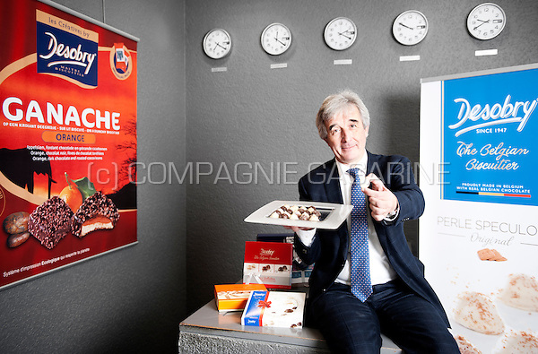 Thierry Huet, ceo of the Desobry biscuit factory (Belgium, 15/10/2015)