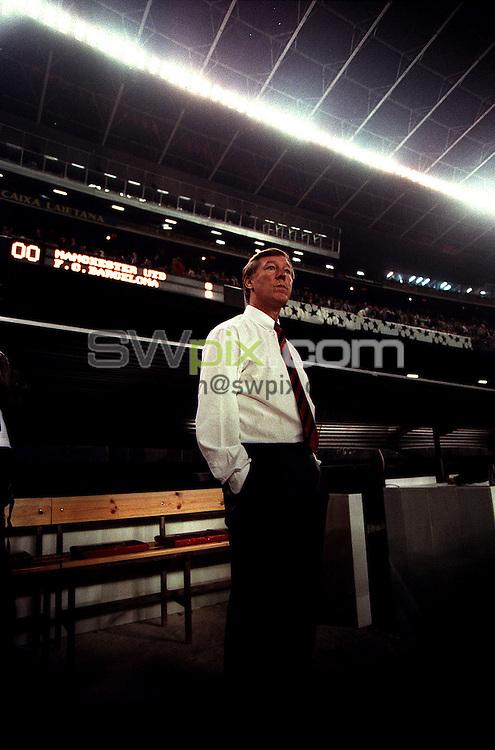 Pix:Michael Steele/SWpix...Soccer. Manchester United v F.C.Barcelona...COPYRIGHT PICTURE>>SIMON WILKINSON..Manchester Uniteds Manager Alex Ferguson.
