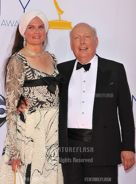 Downton Abbey creator Julian Fellowes at the 64th Primetime Emmy Awards at the Nokia Theatre LA Live..September 23, 2012  Los Angeles, CA.Picture: Paul Smith / Featureflash