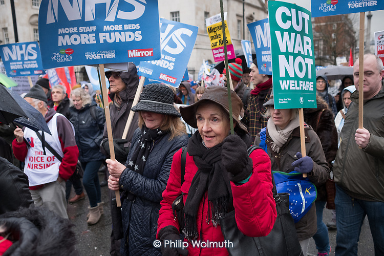 People's Assembly and Health Campaigns Together march for the NHS, FundOurNHS, Fix It Now, London.