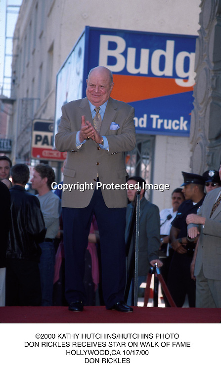 ©2000 KATHY HUTCHINS/HUTCHINS PHOTO.DON RICKLES RECEIVES STAR ON WALK OF FAME.HOLLYWOOD,CA 10/17/00.DON RICKLES