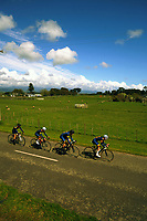 Auckland Grammar senior D u20 boys in action during the 2017 NZ Schools Road Cycling championships day one team time trials at Koputaroa Road near Levin, New Zealand on Saturday, 30 September 2017. Photo: Dave Lintott / lintottphoto.co.nz