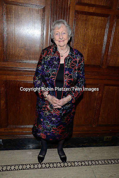 honoree Virginia Pate Wetter attends the Library of American Broadcasting Annual Giants of Broadcasting Luncheon on October 16, 2014 at Gotham Hall in New York City. <br /> <br /> photo by Robin Platzer/Twin Images<br />  <br /> phone number 212-935-0770