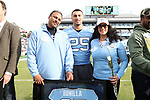 CHAPEL HILL, NC - NOVEMBER 18: UNC's Ayden Bonilla was honored as part of Senior Day pregame activities. The University of North Carolina Tar Heels hosted the Western Carolina University Catamounts on November 18, 2017 at Kenan Memorial Stadium in Chapel Hill, NC in a Division I College Football game. UNC won the game 65-10.