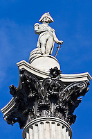 Nelson's Column, monument to Admiral Lord Nelson in Trafalgar Square, London, United Kingdom