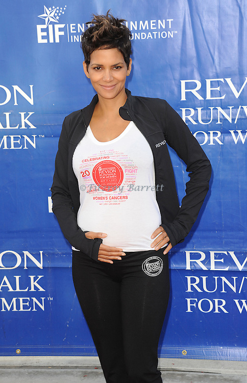 "Halle Berry at the ""20th Annual EIF Revlon Run/Walk For Women"" held at the Los Angeles Memorial Coliseum at Exposition Park on May 11, 2013."