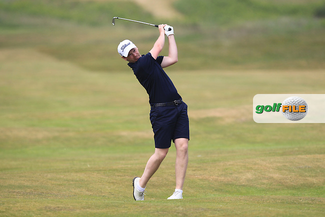 Gary McDermott (Carton House) on the 2nd during Round 4 of the East of Ireland Amateur Open Championship sponsored by City North Hotel at Co. Louth Golf club in Baltray on Monday 6th June 2016.<br /> Photo by: Golffile | Thos Caffrey