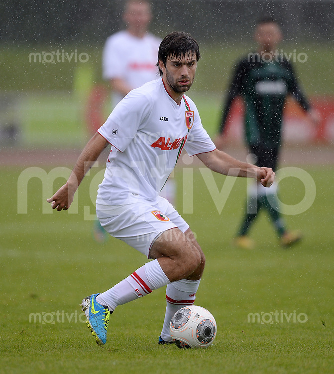 FUSSBALL  1. Bundesliga   2013/2014   Testspiel  TSV Marktoberdorf - FC Augsburg     29.06.2013 Jan Moravek (FC Augsburg) am Ball