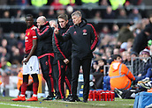 9th February 2019, Craven Cottage, London, England; EPL Premier League football, Fulham versus Manchester United; Manchester United Manager Ole Gunnar Solskjaer giving instructions from the touchline