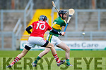Darren Dineen Kerry  in action against Eoghain Keniry Cork in the Co-op Superstores Munster Senior Hurling League on Sunday 14th January in Austin Stack Park, Tralee.
