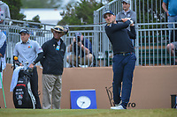 Austin Cook (USA) watches his tee shot on 10 during Round 3 of the Valero Texas Open, AT&T Oaks Course, TPC San Antonio, San Antonio, Texas, USA. 4/21/2018.<br /> Picture: Golffile | Ken Murray<br /> <br /> <br /> All photo usage must carry mandatory copyright credit (© Golffile | Ken Murray)