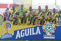 MONTERIA - COLOMBIA, 22-08-2019: Jugadores de Alianza posan para una foto previo al partido por la fecha 7 de la Liga Águila II 2019 entre Jaguares de Córdoba F.C. y Alianza Petrolera jugado en el estadio Jaraguay de la ciudad de Montería. / Players of Alianza pose to a photo prior the match for the date 7 as part Aguila League II 2019 between Jaguares de Cordoba F.C. and Alianza Petrolera played at Jaraguay stadium in Monteria city. Photo: VizzorImage / Cont