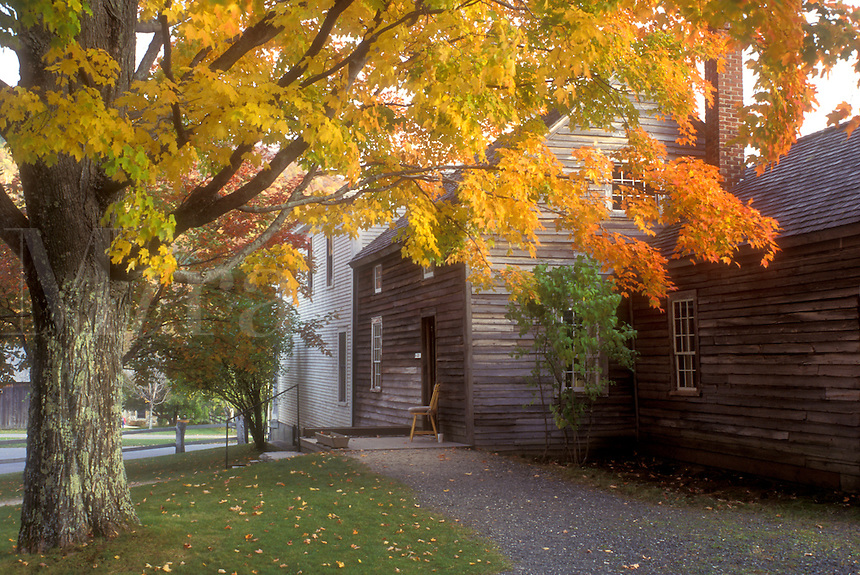 fall, Plymouth Notch, VT, Vermont, Calvin Coolidge State Historic Site in Plymouth Notch in autumn, boyhood home of the 30th president of the United States..