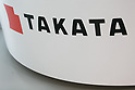 June 26, 2017, Tokyo, Japan - A Takata Corporation logo is seen inside a showroom on June 26, 2017. Japanese airbag manufacturer Takata Corporation files for bankruptcy protection in Japan and the United States following the company's global recall involving its defective airbags and massive liabilities. (Photo by AFLO)
