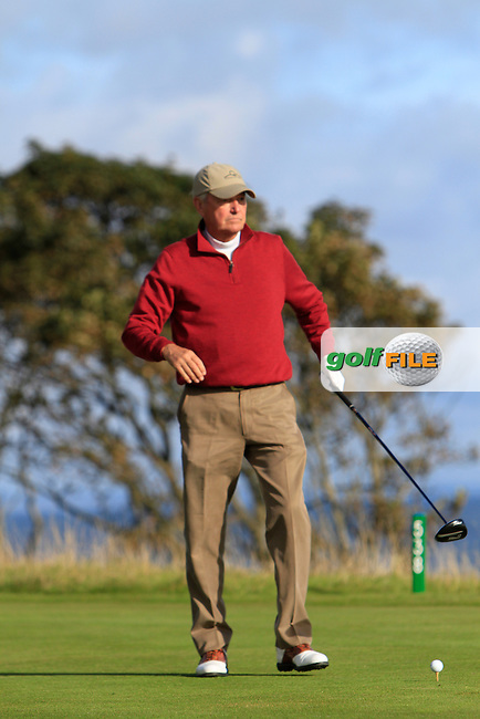 Jim Callaway during Round 1of the Alfred Dunhill Links Championship at Kingsbarns Golf Club on Thursday 26th September 2013.<br /> Picture:  Thos Caffrey / www.golffile.ie