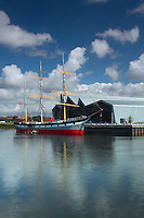 The Riverside (Transport) Museum, the Tall Ship (Glenlee) and the River Clyde, Glasgow<br /> <br /> Copyright www.scottishhorizons.co.uk/Keith Fergus 2011 All Rights Reserved