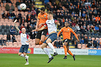 Byron Harrison Of Barnet heads wide during Barnet vs Stockport County, Emirates FA Cup Football at the Hive Stadium on 2nd December 2018
