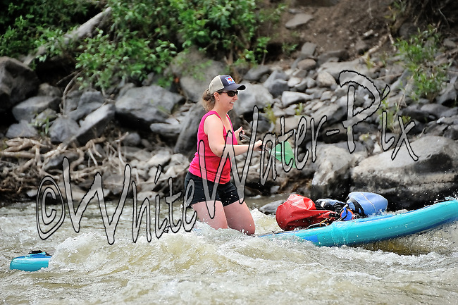 Private Rafters, Kayakers, Canoers, Paddle Boarders & Tubers crashing Cable Rapid while running the Upper Colorado River from Rancho Del Rio to State Bridge on July 26, 2014.