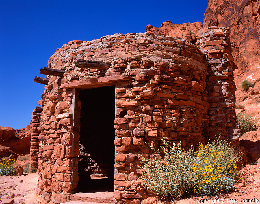 Valley of Fire State Park, NV<br /> The Cabins - 1933 CCC structures of native Navajo Sandstone