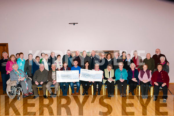 Cheque Presentation: Colin Ahern from the Make a wish Foundation & Sheila Hayes from the Jack & Jill Foundation receiving cheques for €1165.00, the proceeds of a Christmas raffle from Breda Keane & Kitty O'Connell of the Lyrecrompane Development Association at the Lyrecrompane Community Centre on Friday afternoon last.