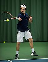 Rotterdam, Netherlands, Januari 28, 2017, ABNAMROWTT, Clubkampioenen, Bram Bruinse/Arthur vd Lichte<br /> Photo: Tennisimages/Henk Koster