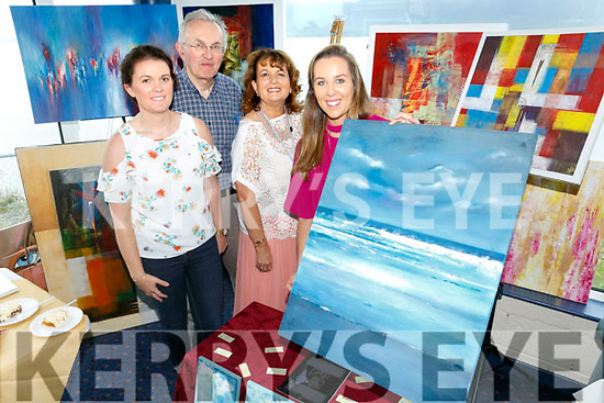 Fenit Tralee Bay Sailing Clubhouse Art And Craft Fair in aid of Spa Fenit Hospice on Sunday Pictured Sinead Moriarty, Joe Moriarty,  Mairead Moriarty with Artists Niamh Moriarty