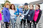 Niamh Stevenson, Treasa and Naoise Feelan, Sarah and Phillipa Stack, Laura and Jacqueline Kelly having fun at the Donal Walsh 6k walk at the Spa NS on Sunday.