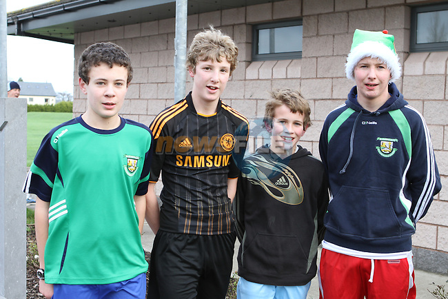 Ian Connor, Paul Mathews, Alan Connor and Peter Browne who were the 1st 4 Under 18s to finish the 2011 Goal Mile in Beaulieu...(Photo credit should read Jenny Matthews www.newsfile.ie)....This Picture has been sent you under the conditions enclosed by:.Newsfile Ltd..The Studio,.Millmount Abbey,.Drogheda,.Co Meath..Ireland..Tel: +353(0)41-9871240.Fax: +353(0)41-9871260.GSM: +353(0)86-2500958.email: pictures@newsfile.ie.www.newsfile.ie.