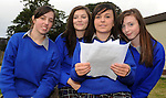 Rachel Evans, Lorraine O'Sullivan, Cara Joy and Shannon Daly with their Junior Cert results at Presentation Secondary School Milltown  on Wednesday.  Picture: Eamonn Keogh (MacMonagle, Killarney)