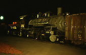 D&amp;RGW #481 as a mid-train helper in a freight.  Night shot.<br /> D&amp;RGW